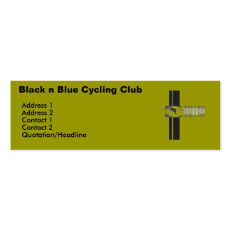 Black n Blue Cycling Club Business Card Template
