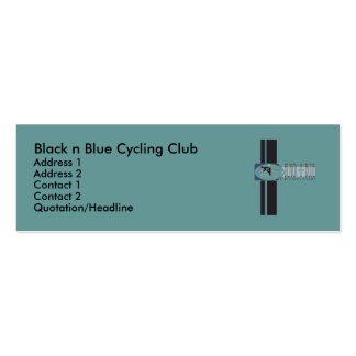Black n Blue Cycling Club Business Cards