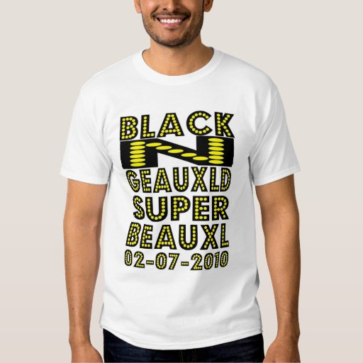 Black N Geauxld New Orleans T Shirts Zazzle
