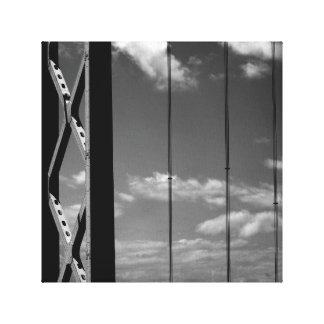 Black 'n' White Bridge Canvas Prints