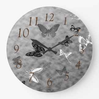 Black n White Butterflies Clocks