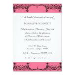 Black n White Fleur de Lis Damask Bridal Shower 13 Cm X 18 Cm Invitation Card