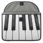 Black n White Piano Keyboard Key Picture Image MacBook Pro Sleeve