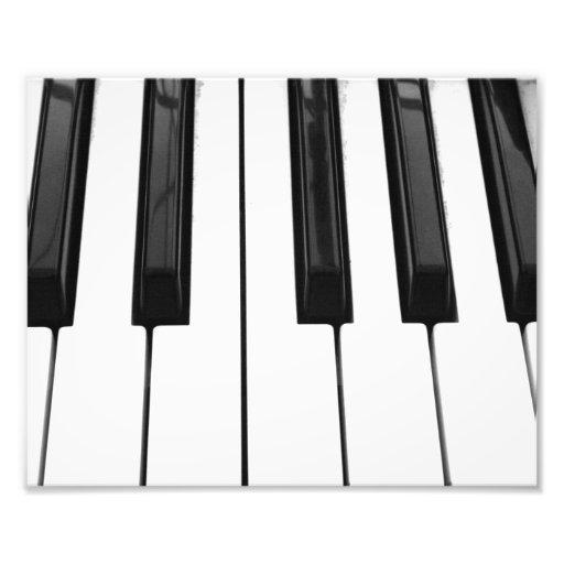 Black n White Piano Keyboard Key Picture Image Photo Art