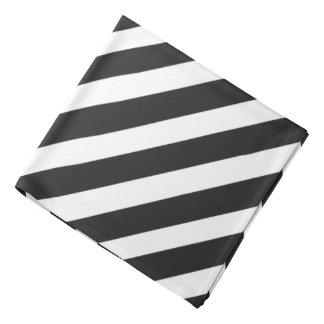 Black 'n White Pirate Stripes Bandana