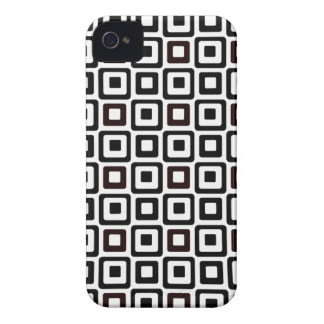 Black-n-White Squares iPhone 4 Cases