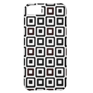 Black-n-White Squares iPhone 5C Covers