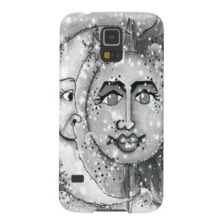 Black n White Sun and Moon Design Galaxy S5 Case
