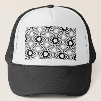 Black n White Sunflower Trucker Hat