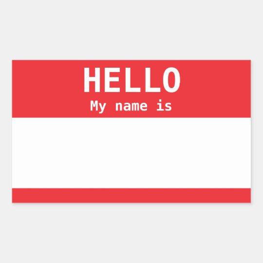 Black Nametag Personalised Red for Work or Meeting
