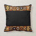 Black Native African art pillow