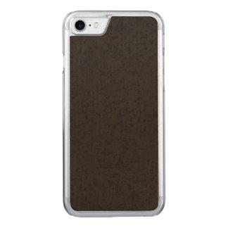 Black Natural Cork Bark Look Wood Grain Carved iPhone 7 Case