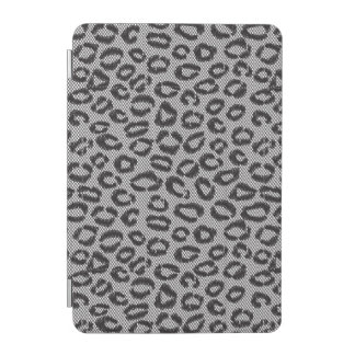 Black net lace with leopard pattern on white iPad mini cover
