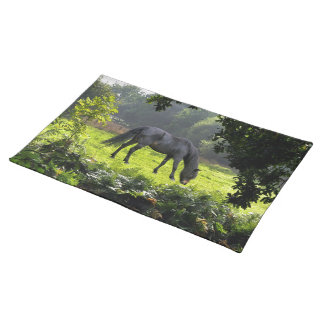 Black New Forest Pony Forest Clearing U K Place Mats