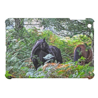 Black New Forest Pony & Forest U.K. iPad Mini Cover