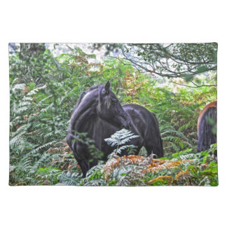 Black New Forest Pony & Forest U.K. Placemats