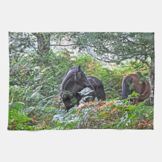Black New Forest Pony & Forest U.K. Hand Towels