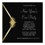 Black New Years Eve Party 5.25x5.25 Square Paper Invitation Card