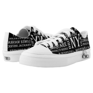 Black New York Low Tops