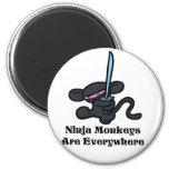 Black Ninja Kick Magnet