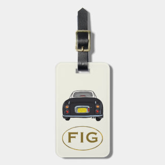 Black Nissan Figaro Car Luggage Tag