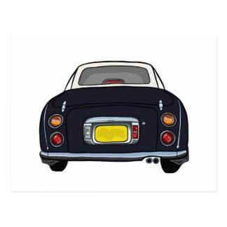 Black Nissan Figaro Car Postcard
