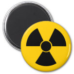Black Nuke 6 Cm Round Magnet