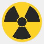 Black Nuke Round Sticker