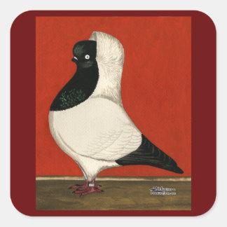 Black Nun Pigeon Square Sticker