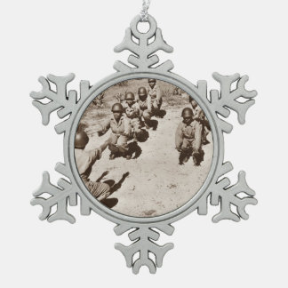 Black Nurses with Drill Instructor Pewter Snowflake Decoration