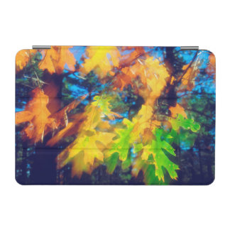 Black Oak Leaves blowing in the Wind iPad Mini Cover
