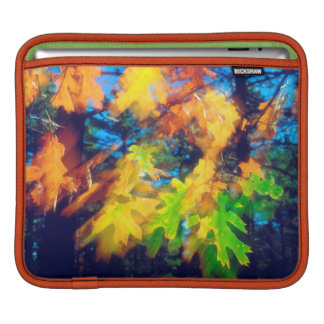 Black Oak Leaves blowing in the Wind iPad Sleeve
