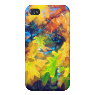 Black Oak Leaves blowing in the Wind iPhone 4 Case