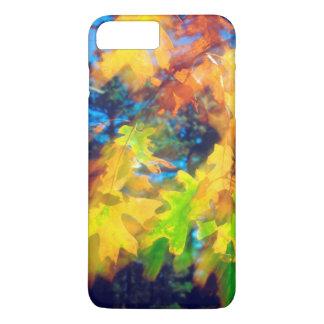 Black Oak Leaves blowing in the Wind iPhone 7 Plus Case