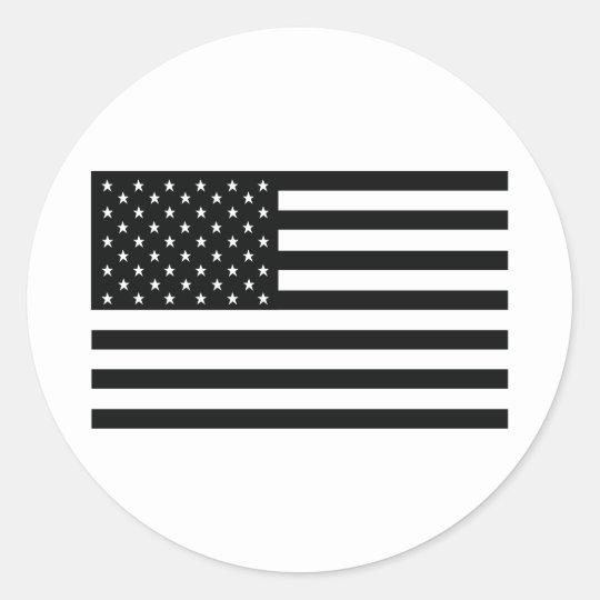 black obama america usa flag classic round sticker