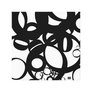 black oes canvas print