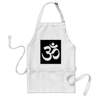 """Black  """"OHM"""" Mystical Mantra Gifts by Sharles Standard Apron"""