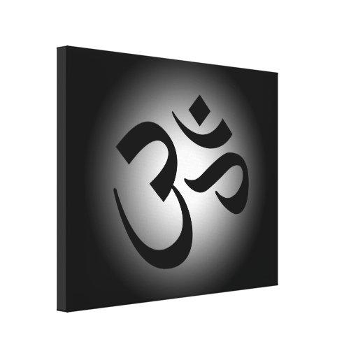 Black Om Symbol Gallery Wrap Canvas