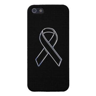 Black on Black Ribbon Awareness Design Cover For iPhone 5/5S