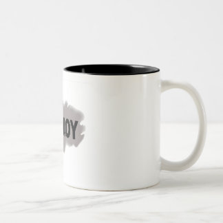 Black on Gray Cooroy Two-Tone Coffee Mug