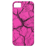 Black on Pink Cracks iPhone 5 Case