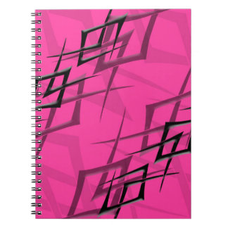 """Black on Pink """"Thorn"""" Notebook"""