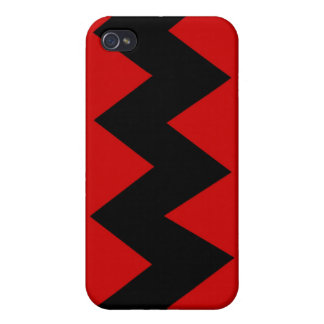 Black on Red Zig Zag iPhone 4/4S Hard Case iPhone 4/4S Case
