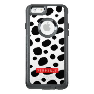 Black On White Cheetah Spots Animal Print Pattern OtterBox iPhone 6/6s Case