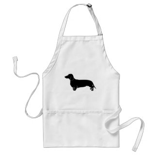 Black on White Dachsund Aprons