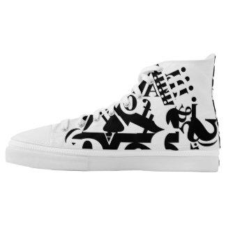 black on white on black 1 high tops