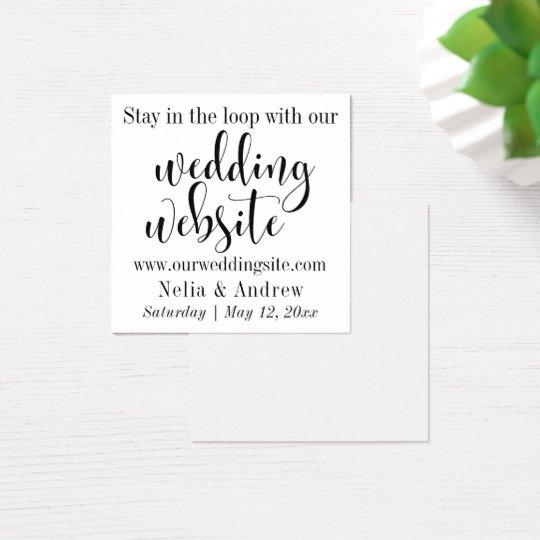 Black on White Pretty Typography Wedding Website Square