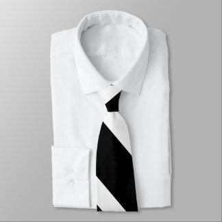 Black on White Striped Tie