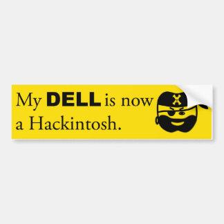Black on Yellow Hackintosh Bumper Sticker