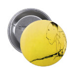 black on yellow picture of dancer pinback buttons